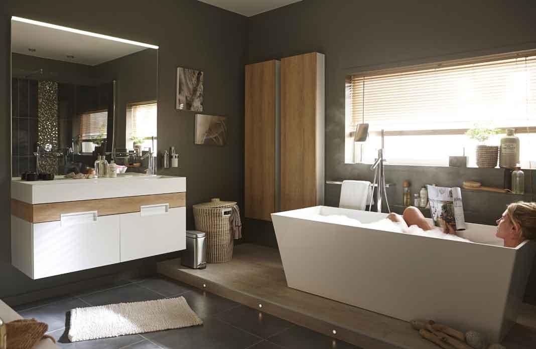 Dans une suite parentale une salle de bains tout confort for Salle de bain 6m2 rectangulaire