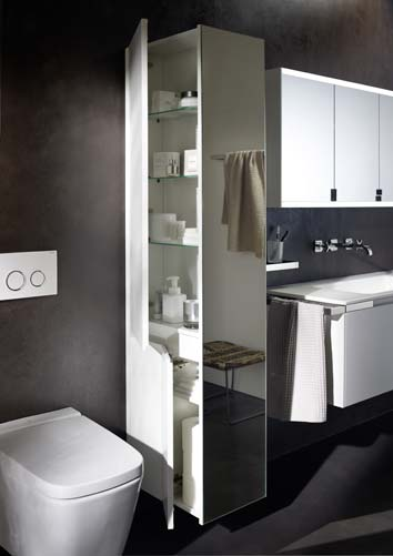 s parer wc et lavabo avec une armoire colonne. Black Bedroom Furniture Sets. Home Design Ideas