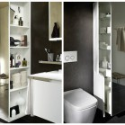 3 id es pour isoler le wc dans la salle de bains. Black Bedroom Furniture Sets. Home Design Ideas