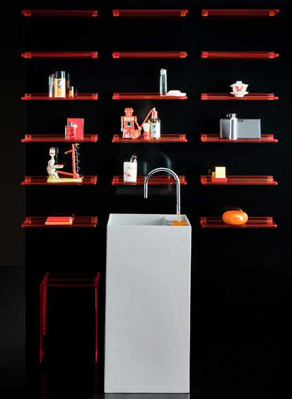 Ambiance orange Kartell by Laufen ROberto Palomba