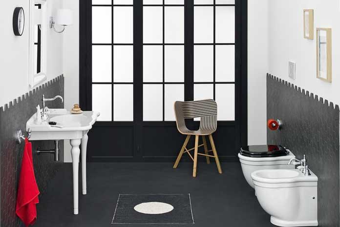 salle de bains carreler les murs mi hauteur styles