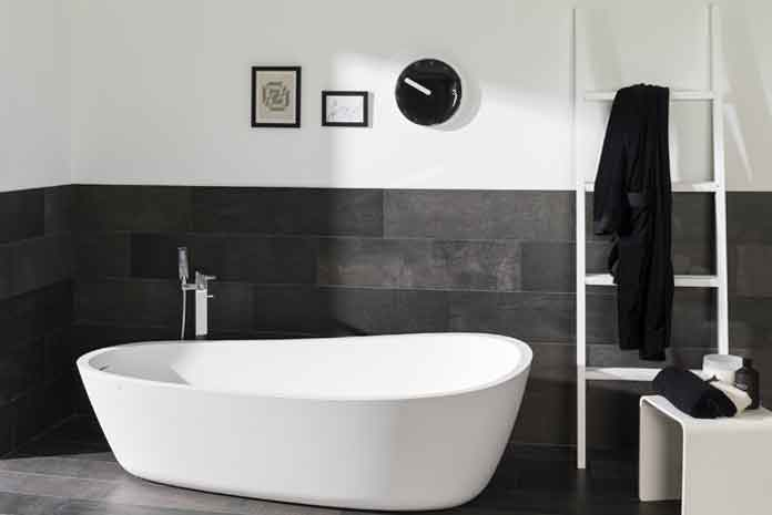 salle de bains carreler les murs mi hauteur styles de bain. Black Bedroom Furniture Sets. Home Design Ideas