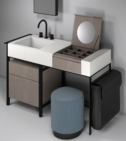 tendance 2016 la coiffeuse au point d 39 eau styles de bain. Black Bedroom Furniture Sets. Home Design Ideas