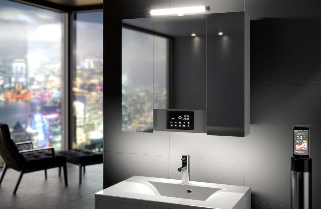 Opty d\'Allibert : l\'armoire de toilette multimédia | Styles de Bain