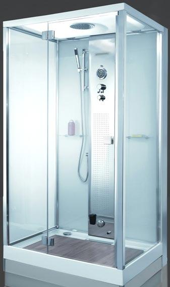 cabine de douche à recyclage d'eau