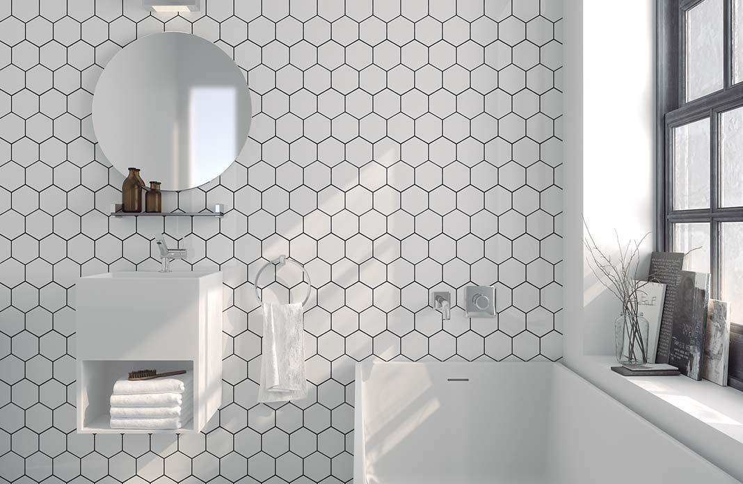 Carrelage Hexagonal Blanc Vuesdesofia - Carrelage hexagonal