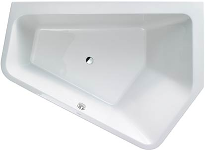 baignoire asymetrique paiova 5 duravit vue de dessus