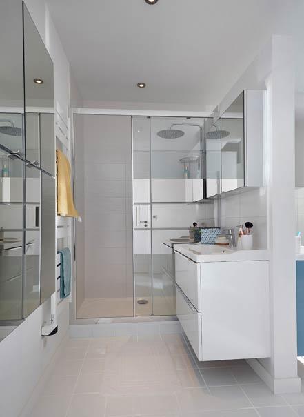 salle de bains à partager douche