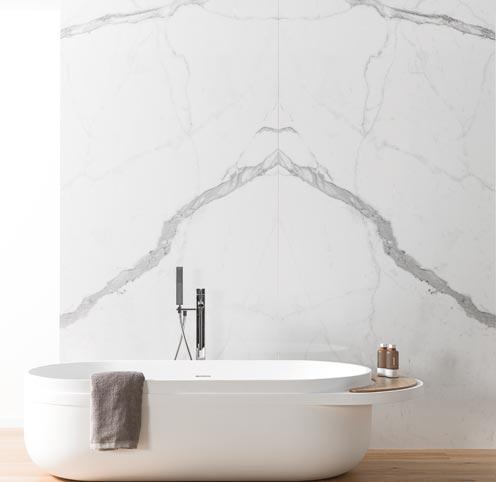 idée carrelage salle de bain marbre