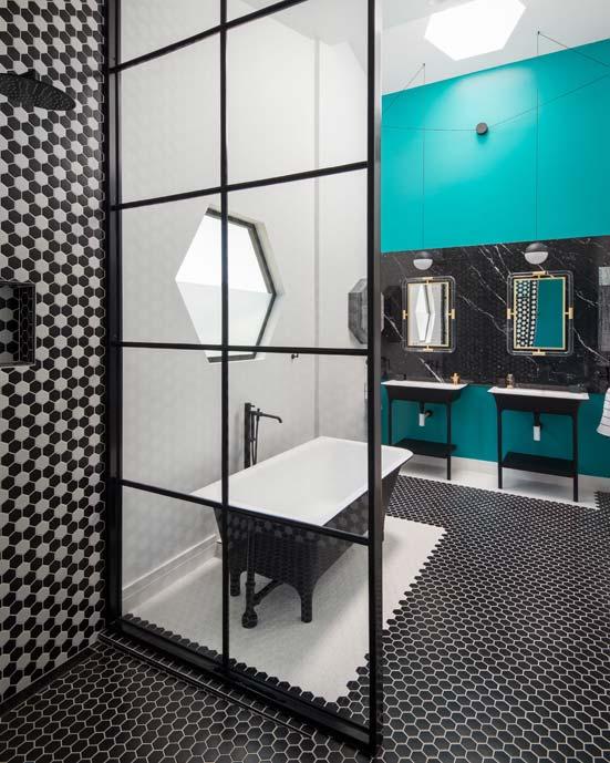 Salle de bain turquoise et noir gallery of vasque salle for Salle de bain noir et turquoise