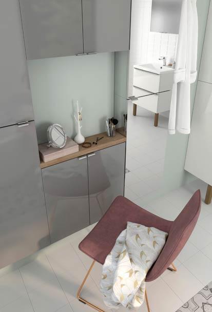 Meuble de salle de bain pensez aux petites profondeurs for Coiffeuse de salle de bain
