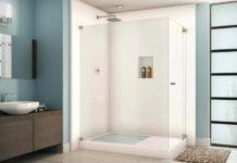 Ambiance avec un douche ouverte à recyclage d'eau