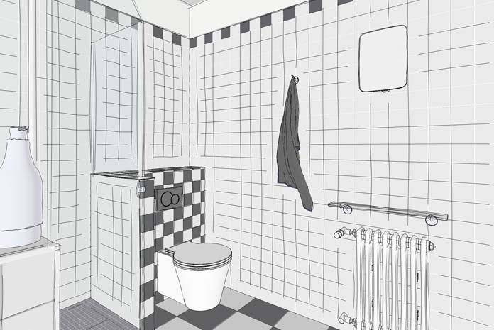 agencer une petite salle de bain carr e avec des toilettes styles de bain. Black Bedroom Furniture Sets. Home Design Ideas