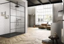Paroi de douche atelier : frame Vismaravetro, en ambiance.