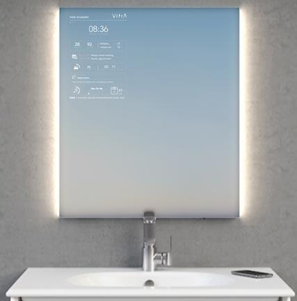 miroir connecte salle de bain