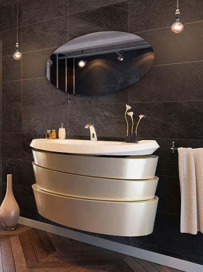 3 meubles vasques pour les salles de bains ouvertes sur la chambre. Black Bedroom Furniture Sets. Home Design Ideas