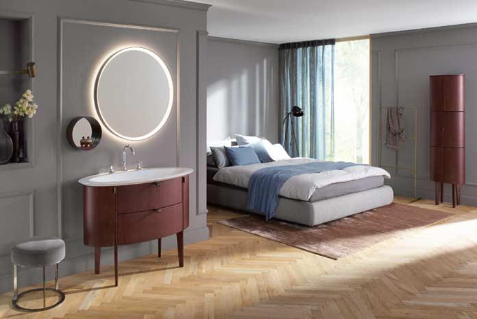 Meuble de salle de bains installé dans la chambre, Diva de Burgbad