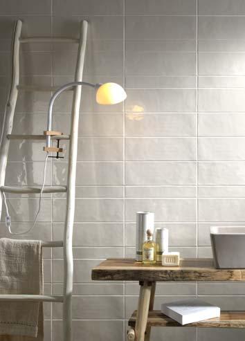 idées originales pour carreler la salle de bain : variations de formats