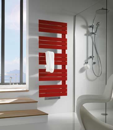 Radiateur sèche-serviettes avec soufflant, Finimétal rouge