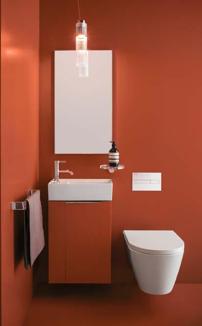 Comment utiliser la couleur dans la salle de bain : l'orange