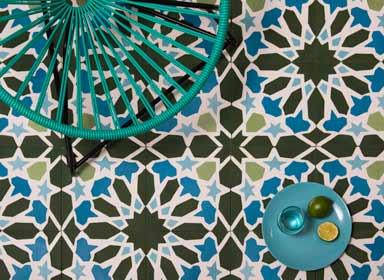 Carreaux de ciment de style marocain