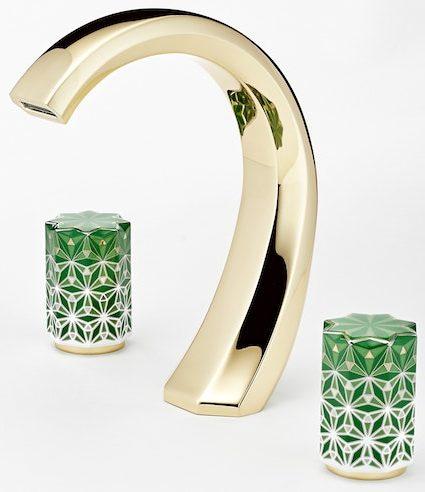 robinet mélangeur avec poignées de style marocain