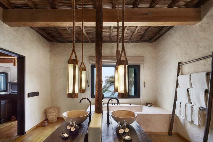 Salle de bains hôtel Six Senses Zighy Bay, Oman