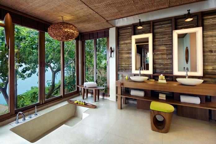 Salle de bains hôtel Six Senses Samui, Thaïlande