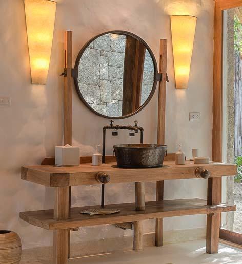 La salles de bains de l'hôtel Six Senses Ninh Van Bay, Vietman