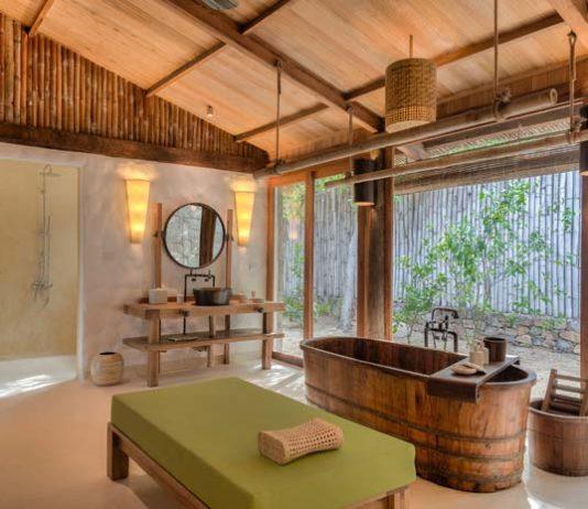 Les salles de bains des hôtels Six Senses, Ninh Van Bay, Vietman