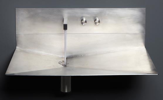Lavabos avec crédence ou dosseret, Lavantino de Antonio Lupi