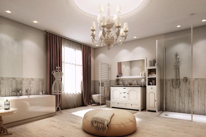 Aménager une grande salle de bain romantique avec Envie de salle de bain