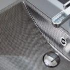 Tendance carbone dans la salle de bains : une vasque imitant le matériau.