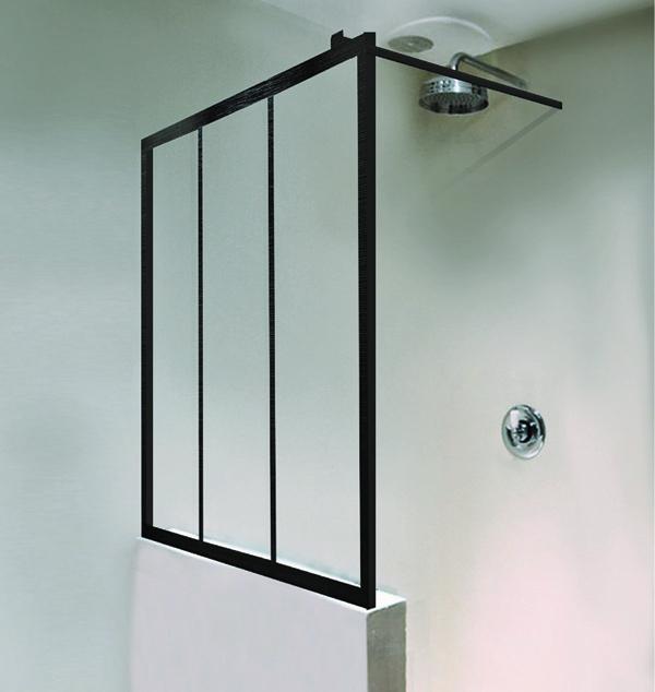 Paroi de douche atelier, modèle sur muret, Envie de salle de bain