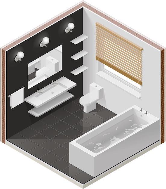 Sur le site Enviedesalledebain.fr, réaliser le plan 3D de votre future salle de bain