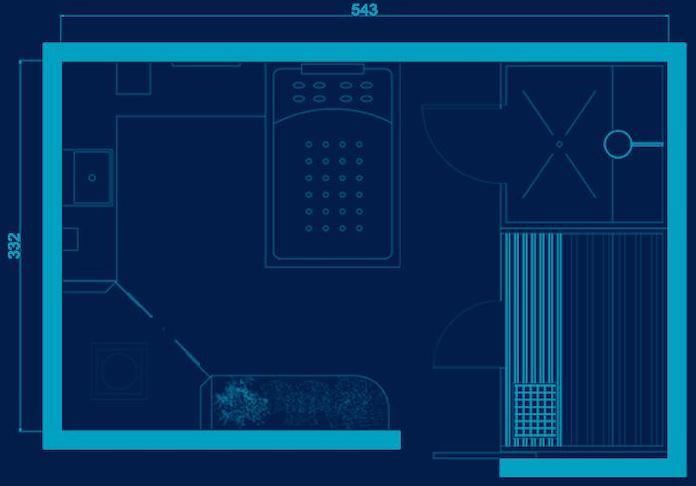 Aménager une grande salle de bain : plan de la solution Bien-Etre d'Envie de salle de bain