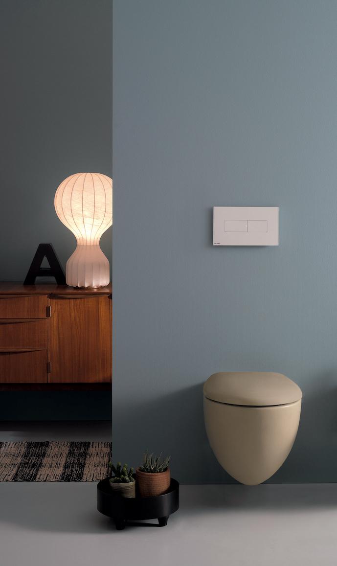 WC design suspendu et en couleur Bowl+ de Ceramica Globo