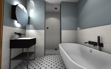 Une salle de bain moderne