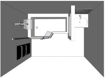 Aménager sa salle de bain avec Envie de salle de bain : plan avec baignoire bain douche