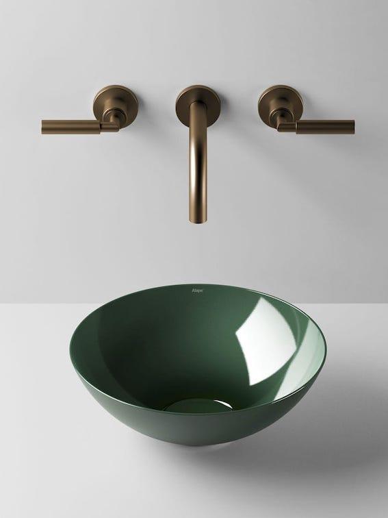 Vasque-bol-en-acier-emaillé-vert