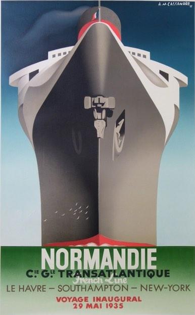 Affiche-Croisiere-Paquebot-Normandie