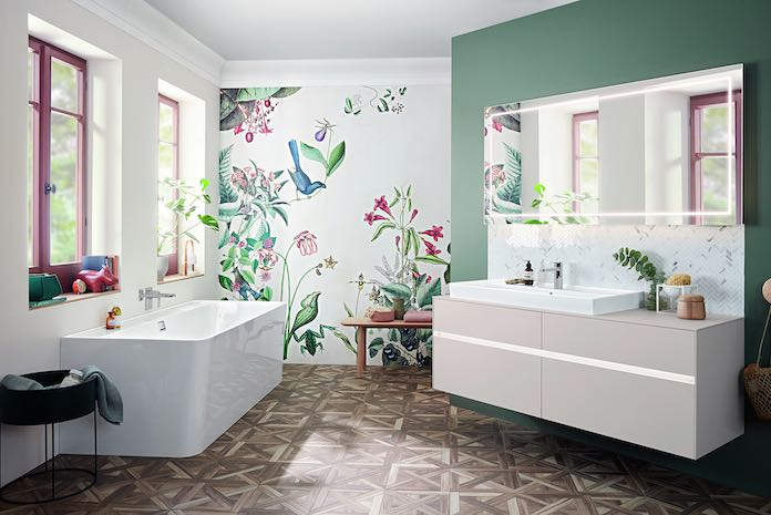Une Touche De Vert Fait Le Printemps Dans La Salle De Bains Styles De Bain