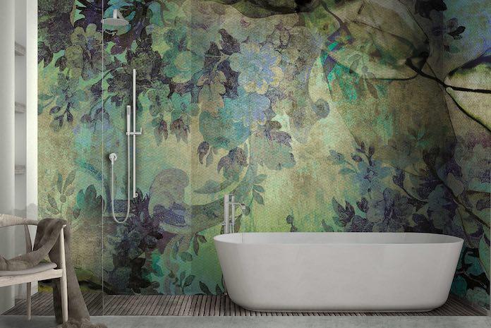 Papier peint salle de bains motif Jungle