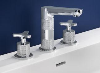 Mélangeur de lavabo gravé