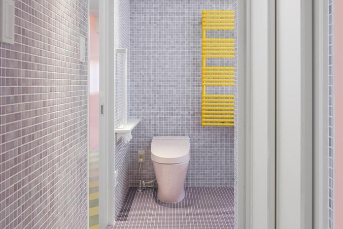 salle de bains couleurs pastel