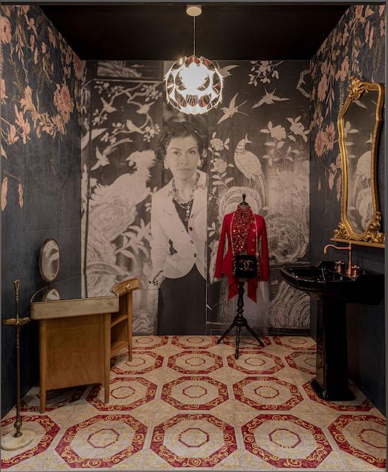 la salle de bains imaginée de coco chanel