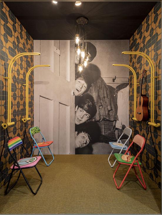 la salle de bains imaginée des Beatles