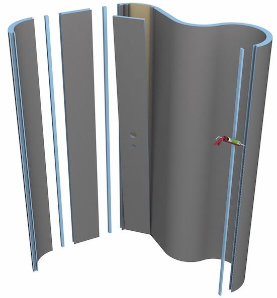cloison courbe Molroromo de Wedi