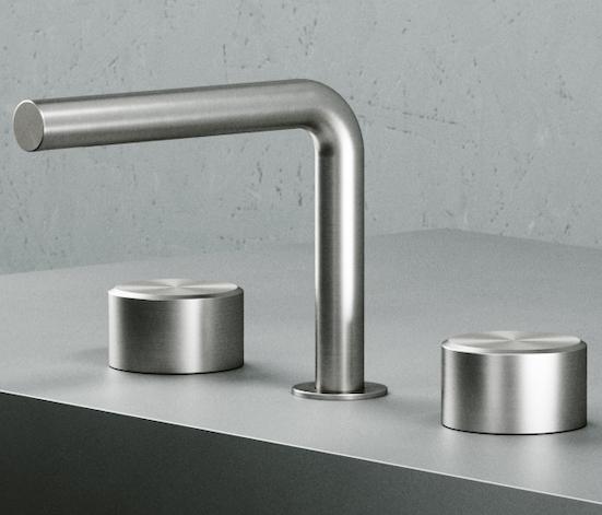 mélangeur de lavabo à gros croisillons cylindriques