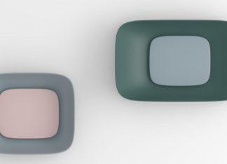deux vasques vues de dessus avec cache-bonde surdimensionné
